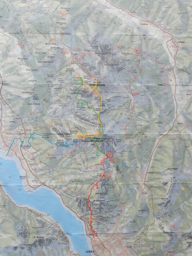 Cartina Trekking Grigne